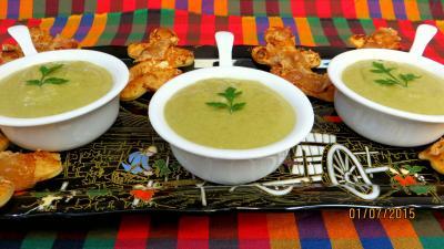 Soupes & potages : Crème vanillée de haricots verts