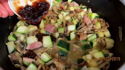 Jambon et foie de veau aux champignons - 6.4