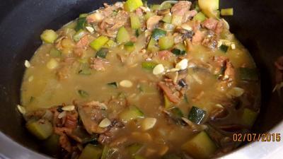Jambon et foie de veau aux champignons - 7.2