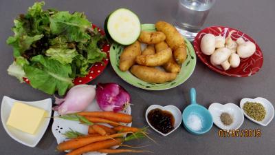 Ingrédients pour la recette : Etuvée de légumes