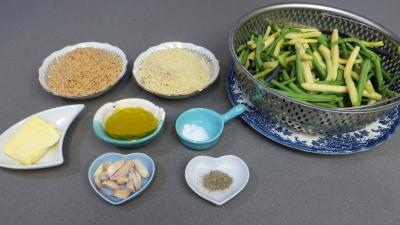 Ingrédients pour la recette : Haricots verts à l'ail