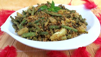 Cuisine niçoise : Plat de haricots à l'ail