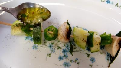 Brochettes de légumes à la plancha - 7.3