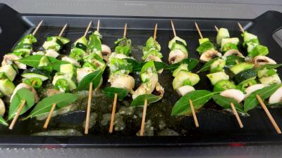 Brochettes de légumes à la plancha - 8.1