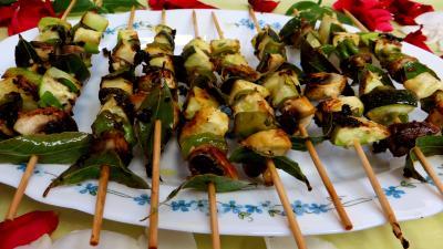 Brochettes de légumes à la plancha - 9.2