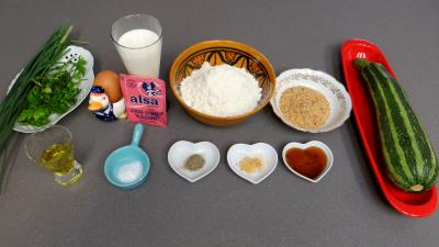Ingrédients pour la recette : Beignets de courgettes