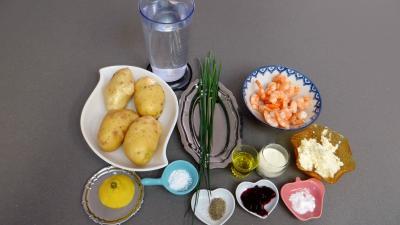 Ingrédients pour la recette : Barquettes aux crevettes