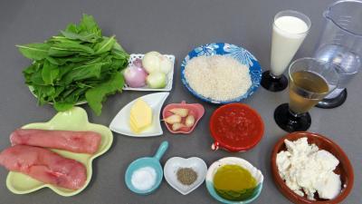 Ingrédients pour la recette : Risotto à l'oseille