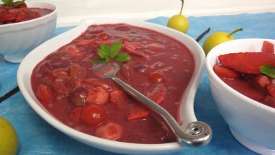Recette Salade de fruits au poivre et vanille