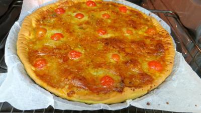 Pizza aux oignons et au bleu - 7.3