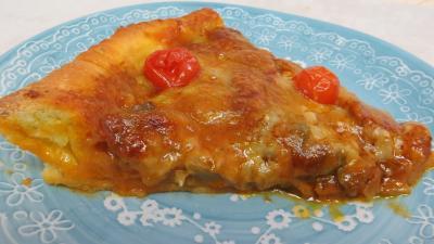 Recette Pizza aux oignons et au bleu
