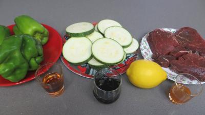 Ingrédients pour la recette : Boeuf aux poivrons