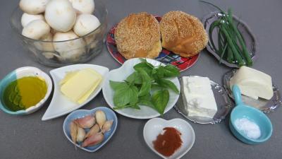 Ingrédients pour la recette : Bruschette aux champignons de paris