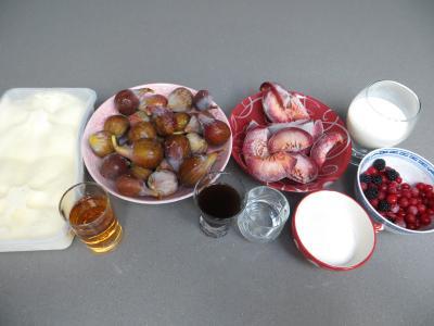 Ingrédients pour la recette : Compote de figues glacée