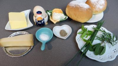 Ingrédients pour la recette : Canapés façon Helvetia