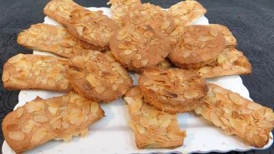 Recette Plat de biscuits aux amandes