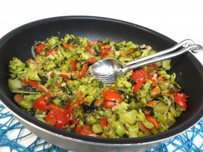 paprika : Sauteuse de brocolis à l'ail