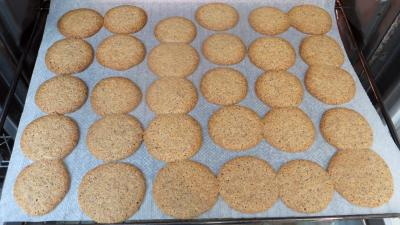 Biscuits croustillants amandes-café - 6.4