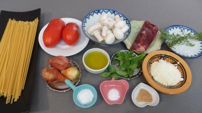 Ingrédients pour la recette : Bucatini à la calabraise