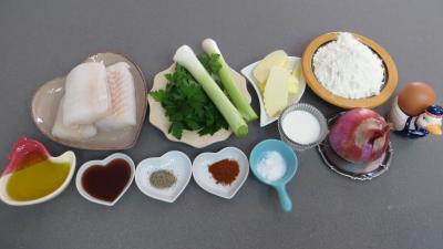 Ingrédients pour la recette : Beignets de cabillaud aux poireaux