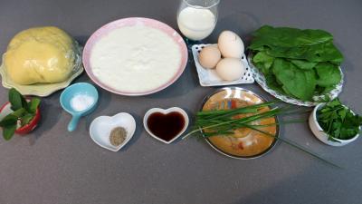 Ingrédients pour la recette : Tarte au caillé