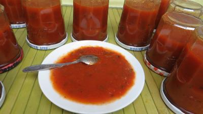 piment doux : Coupelle de sauce tomate aux piments doux