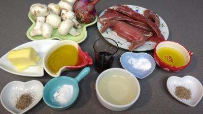 Ingrédients pour la recette : Aiguillettes de canard à l'aigre-doux