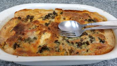 Pâtes alimentaires : Gratin de cannelloni