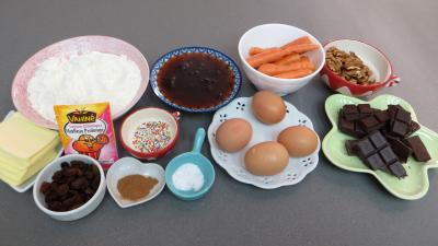 Ingrédients pour la recette : Cake aux carottes