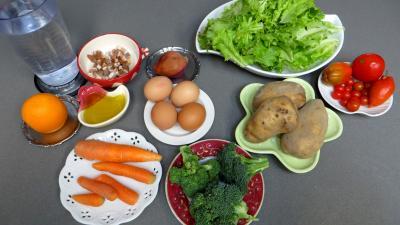 Ingrédients pour la recette : Salade batavia