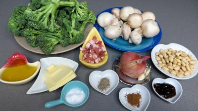 Ingrédients pour la recette : Brocolis façon amandine