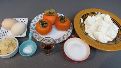 Ingrédients pour la recette : Mousse aux kakis