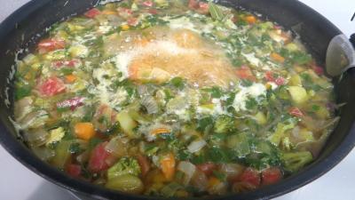 Recette Bouillon aux sept légumes