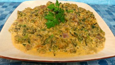 Recettes sans oeufs : Assiette de légumes de bouillon à la crème