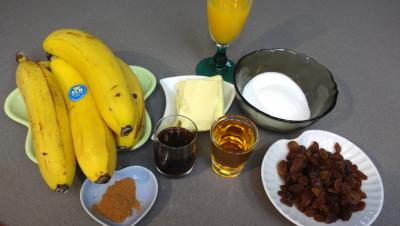 Ingrédients pour la recette : Bananes façon martiniquaise