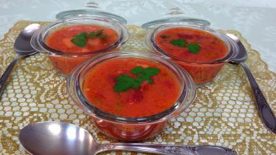 Cuisine diététique : cassolettes de potage de betteraves