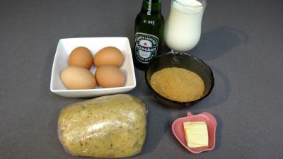 Ingrédients pour la recette : Tarte à la bière