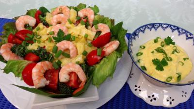Entrées & salades : Salade d'ananas et crevettes