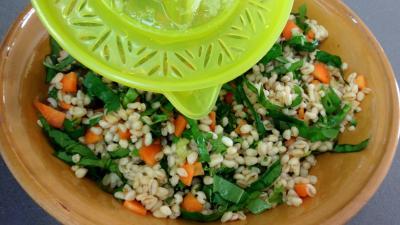 Salade de blé aux blancs de poulet - 6.4