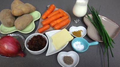 Ingrédients pour la recette : Purée de carottes aux oignons