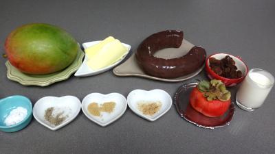 Ingrédients pour la recette : Boudin à la mangue