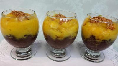 Abats : Verrines de boudin à la mangue