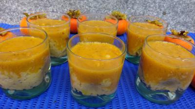 Recettes sans oeufs : Verrines de kakis au riz