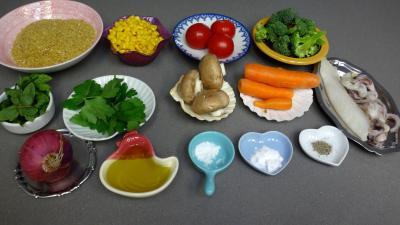 Ingrédients pour la recette : Boulgour à la menthe et au persil
