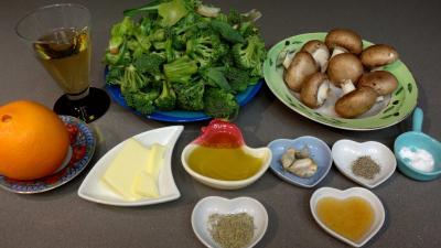Ingrédients pour la recette : Brocolis au vin