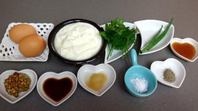 Ingrédients pour la recette : Sauce cocktail au fromage blanc