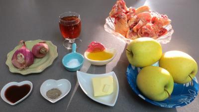 Ingrédients pour la recette : Fricassée de canard aux pommes