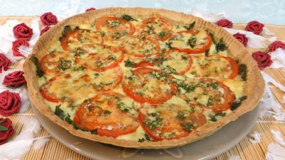 moutarde : Tarte fine au Cantal