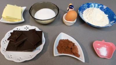 Ingrédients pour la recette : Biscuits moelleux au chocolat