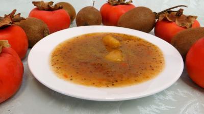 Image : recette Confiture de kiwis et kakis